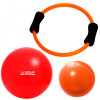 Kit Arco Flexível + Over Ball 25 Cm + Bola Suíça 45 Cm