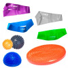 Kit 4 Mini Bands + 2 Bolas Cravo + Disco + Meia Bola Cravo 16 Cm