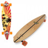 Skate Long Board Twodogs Flying Abec 11 Roda Laranjada