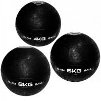 Bola de Peso Slam Ball Cross Fit 4 Kg + Bola 6 Kg + Bola 8 Kg Liveup