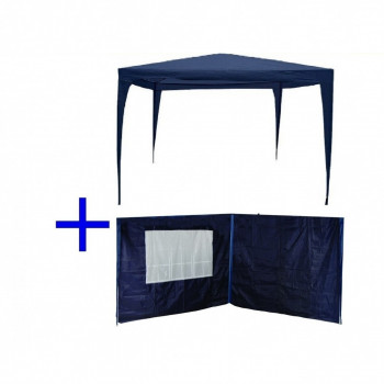 Kit Tenda Gazebo de Encaixe 3x3 M + 4 Paredes Laterais - Bel